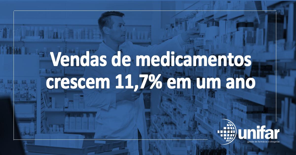 MEDICAMENTOS Vendas de medicamentos crescem 11,7% em um ano