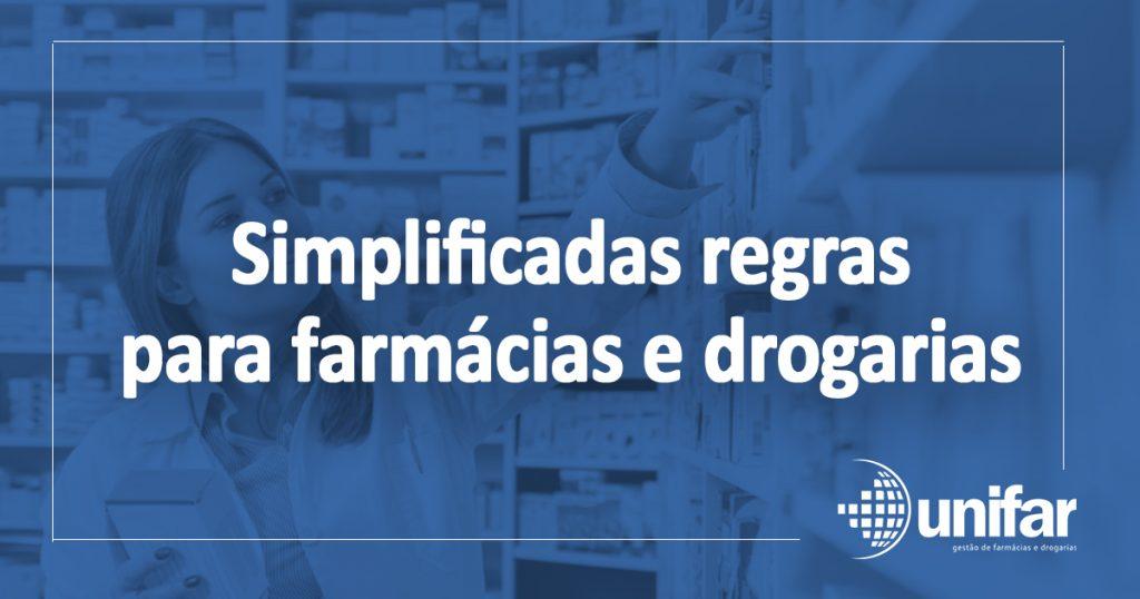 Simplificadas regras para farmácias e drogarias